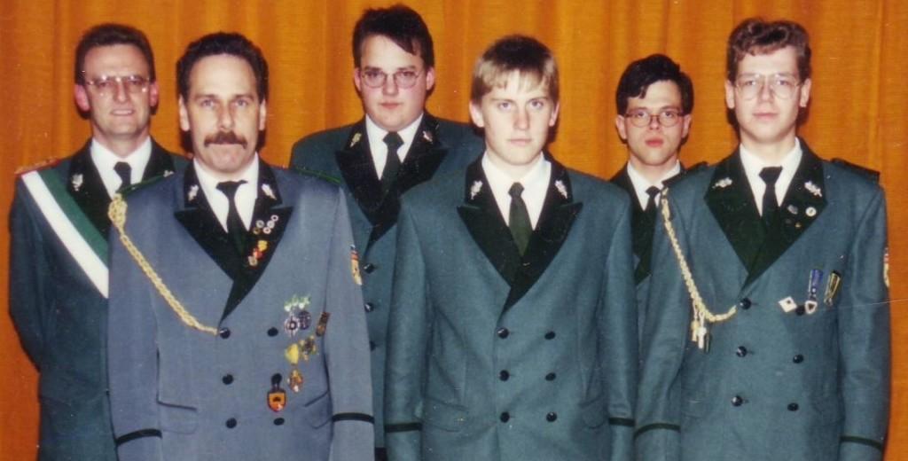 (v.l.n.r.) Klaus Danne, Michael Lesche, Claus Schmidtmeier, Daniel Morik, Michael Thiele, Burkhard Voß