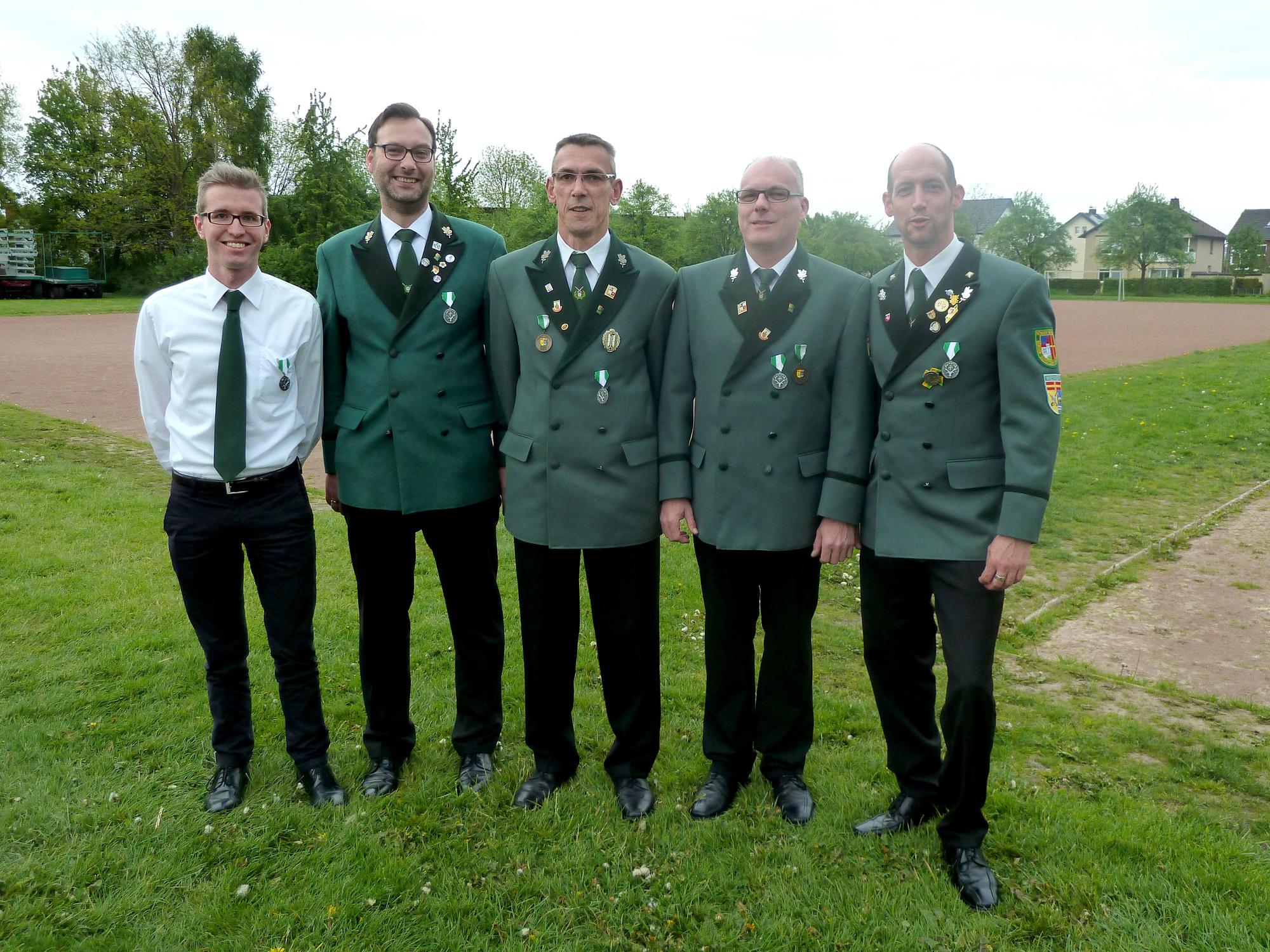Udo Sill, Markus van Wesel, Michael Blömeke, Manfred Sieveke, Marc Lange